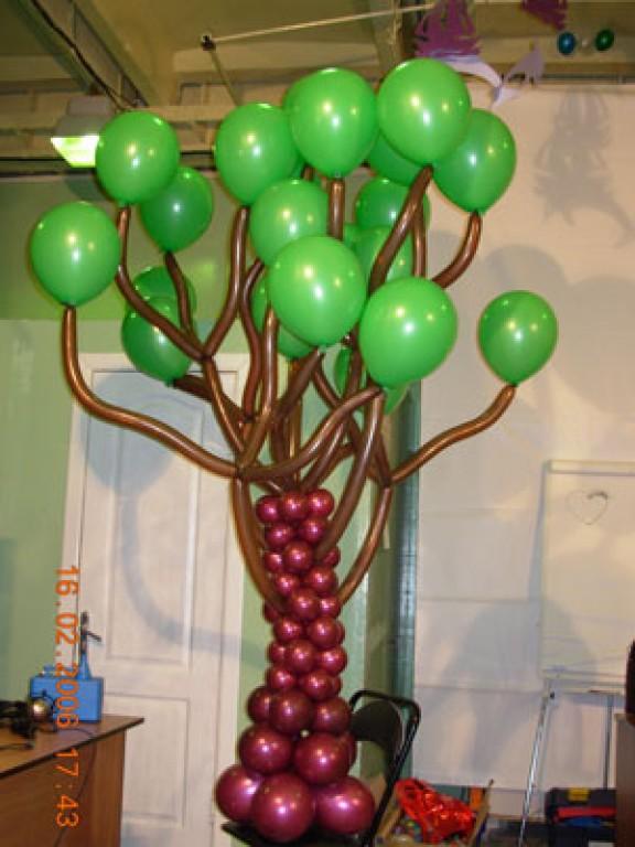 Как сделать дерево-шар